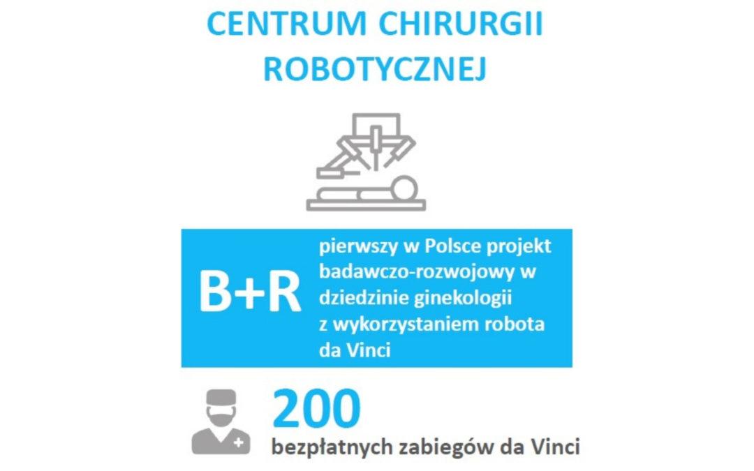 Program operacyjnego leczenia raka szyjki i trzonu macicy z wykorzystaniem robota da Vinci