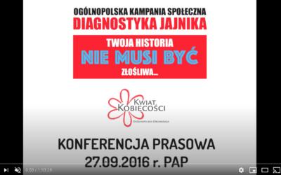 """""""Diagnostyka jajnika"""" 2016 – konferencja prasowa PAP"""