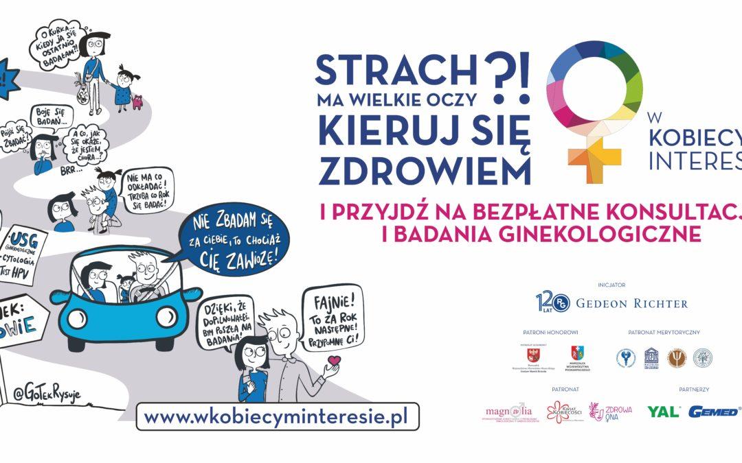 """Kwiat Kobiecości Patronem kampanii społeczno-edukacyjnej """"W kobiecym interesie""""."""
