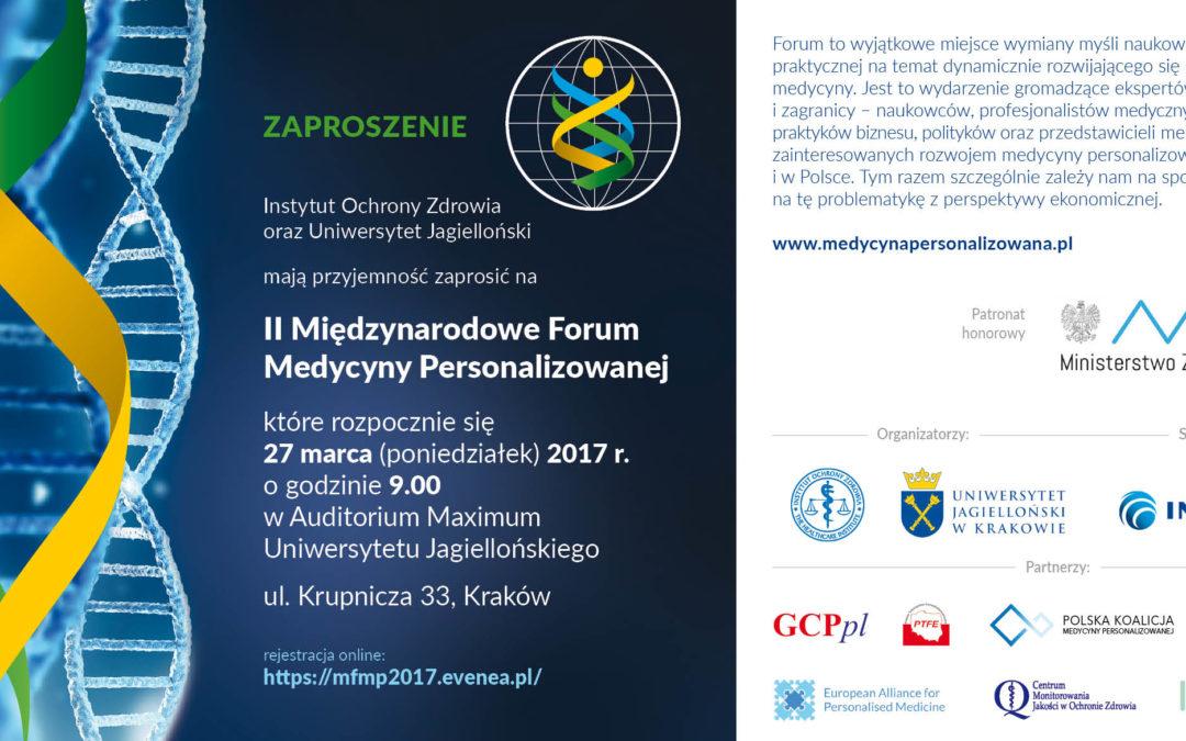 II Międzynarodowe Forum Medycyny Personalizowanej